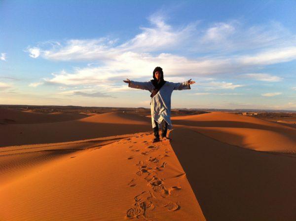 Wanderung in den Sanddünen in Südmarokko mit Sahed - Foto © Welz