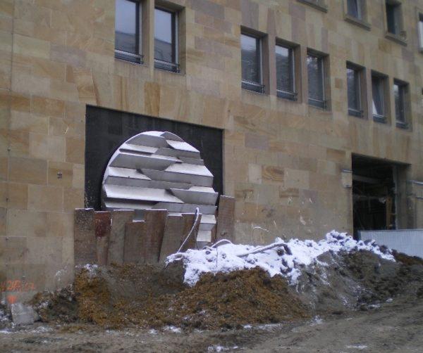 Auch verschwunden: Relief von Wolfgang Klein in der Lautenschlager Straße Stuttgart. Foto © Welz