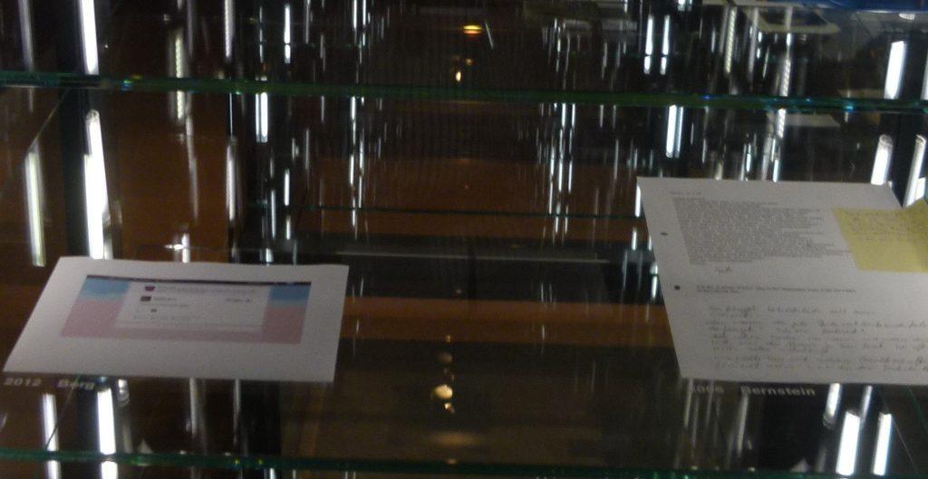 NEXUS, Reihe Leben: Briefe, Vitrine 40, Boden 3: 2012 Berg - Foto: Welz