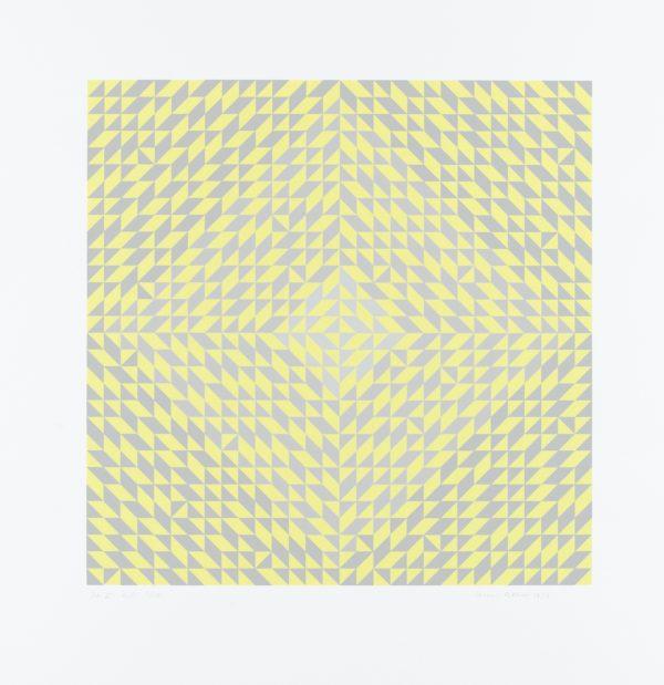 Anni Albers, Ohne Titel, 1973, Siebdruck auf Papier, 65 x 65 cm, Staatsgalerie Stuttgart © The Josef and Anni Albers Foundation / VG Bild-Kunst, Bonn 2013