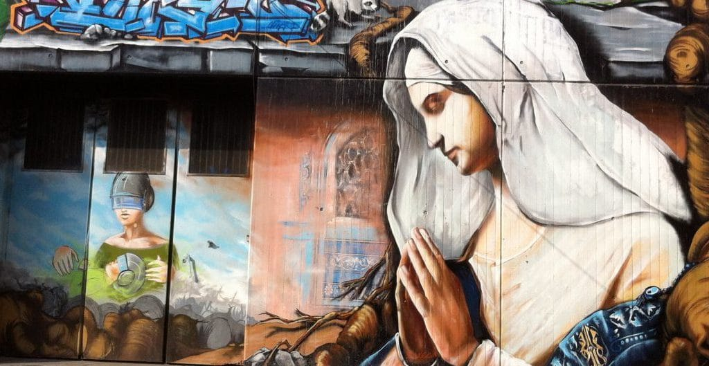 Streetart Stuttgart: Madonna - Foto © Welz