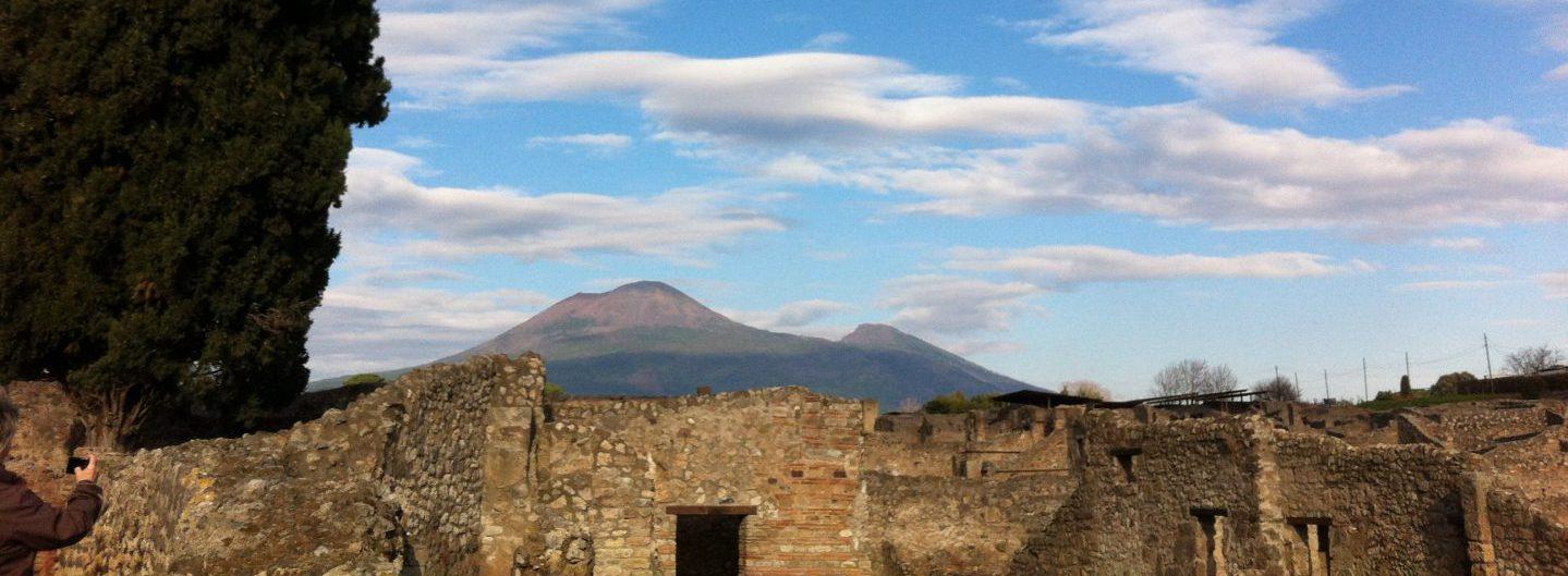 Blick von Pompeji auf den Vesuv - 31.12.2013 - Foto © Welz