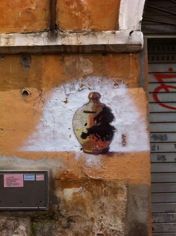 Ohne Worte. AMEN. maupal im Borgo in Rom - Foto © Welz