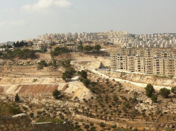 Blick von den Shepherds' Fields auf die Mauer und die israelischen Siedlungen - Bethlehem - September 2011 - Foto © Welz