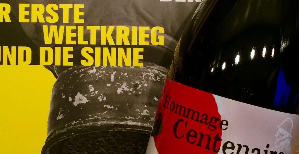 Erinnerung an den Grande Guerre. Eine Flasche Wein fürs Haus der Geschichte - Foto © Welz