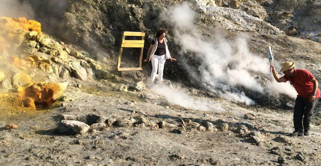 Reisesouvenir: Ein Stein aus der Solfatara - Foto © Welz