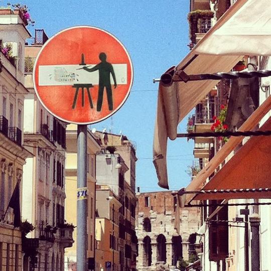 Viel Antike gibt es in Rom. Aber auch viel Streetart! Foto © Welz