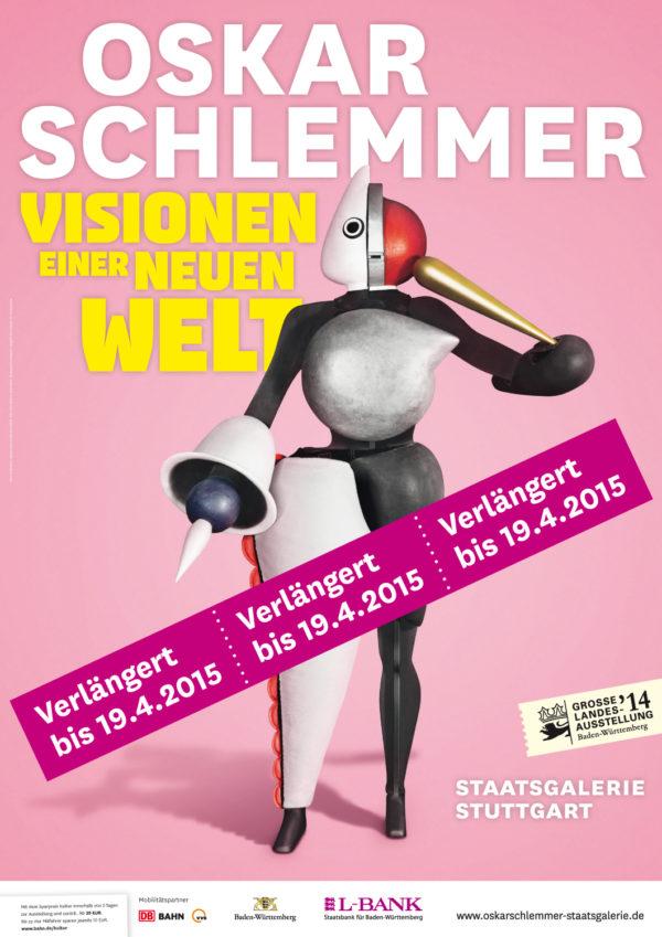 Oskar Schlemmer - Visionen einer neuen Welt verlängert bis zum 19. April © Staatsgalerie