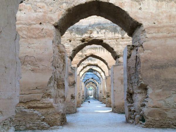 Meknes: Eindrucksvoll! Die Stallungen und Getreidespeicher. Foto © Welz