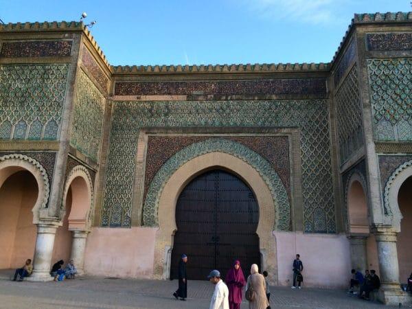 Meknes: Bab Mansour. Das bedeutendste Tor der Stadt und eines der beühmtesten Stadttore Nordafrikas. Foto © Welz