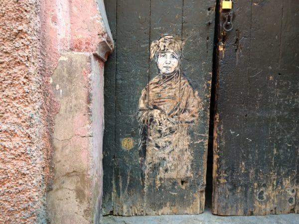 Marrakesch: Ein Stencil von Christian Guemy aka C215 - Foto © Welz