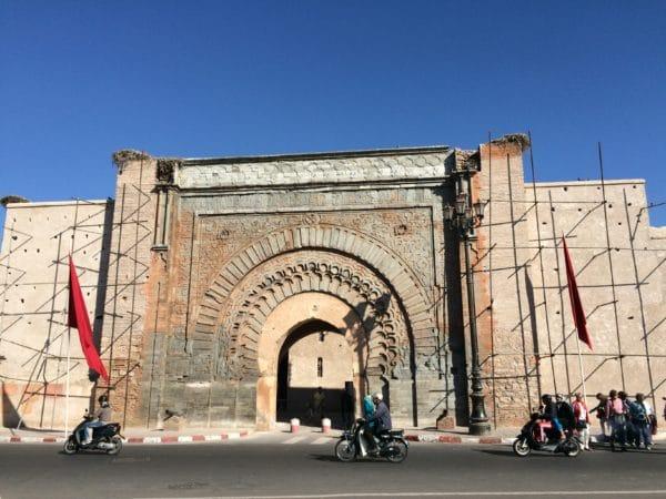 Marrakesch: Bab Agnaou, das schönste und älteste Stadttor der Almohaden. Foto © Welz