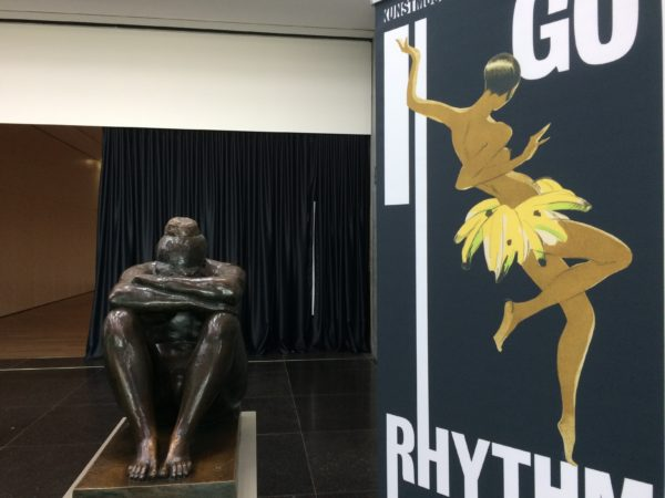 Die Nacht von Aristide Maillol und Josephine Baker - Austellungsplakat I got rhythm Kunstmuseum Stuttgart. Foto © Welz