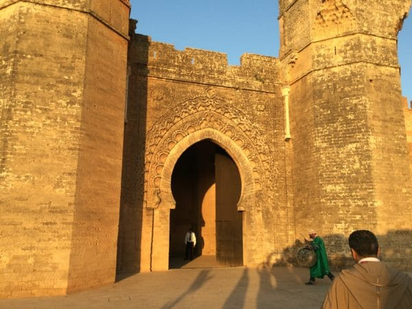 Rabat: Eingangstor zur Nekropole Chellah - Foto © Welz