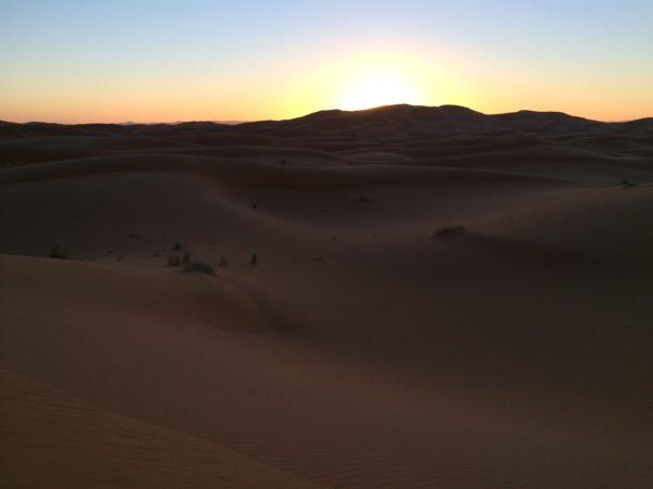 Marokko: Erg Chebbi Sonnenuntergang. Foto © Welz