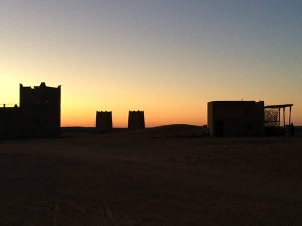 Marokko: Erg Chebbi. Die Sonne ist untergegangen. Foto © Welz