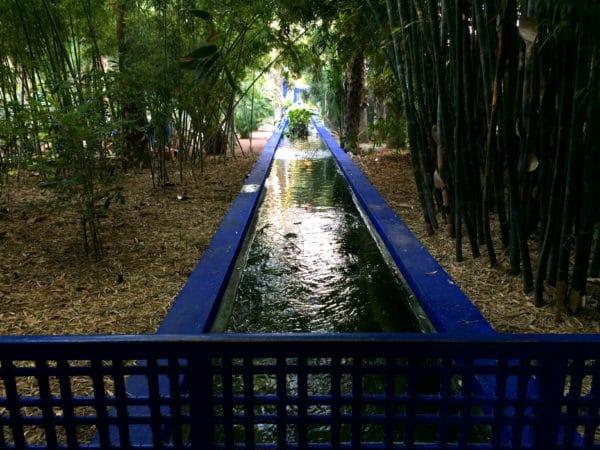 Jardin Majorelle: der Kanal - Foto © Welz
