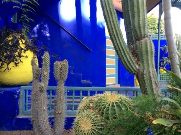 Majorelle Blau: Das ehemalige Atelierhaus von Jacques Majorelle in Marrakech. Foto © Welz