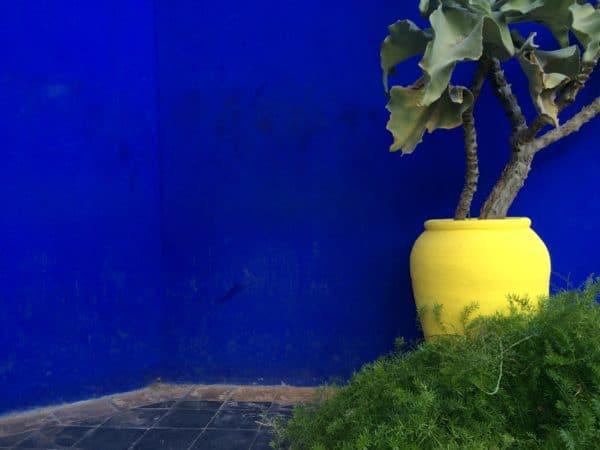 Blau: Jardin Majorelle in Marrakech - Foto © Welz