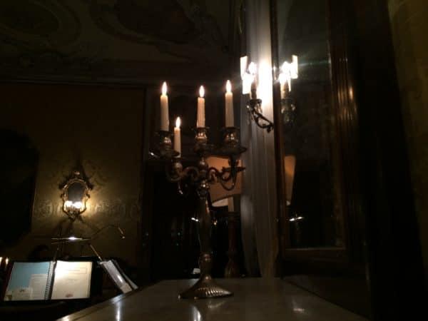 Musica a Palazzo Venezia. Der 2. Akt von LA TRAVIATA wird im Salon Tieopolo im Palazzo Barbarigo-Minotto aufgeführt. Foto © Welz