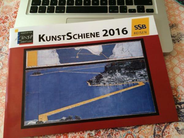 Christos Floating Piers am Iseo-See - Eine Kunstreise der KUNSTSCHIENE 2016 - SSB Reisen mit Andrea Welz - Foto © Welz