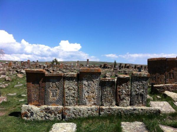 Armenien: Die Kreuzsteine auf dem Friedhof Noratus. Foto © Welz 2013