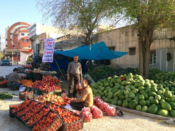 Iran: Straßenverkauf bei Kazerun Iran. Foto © Welz (2016)