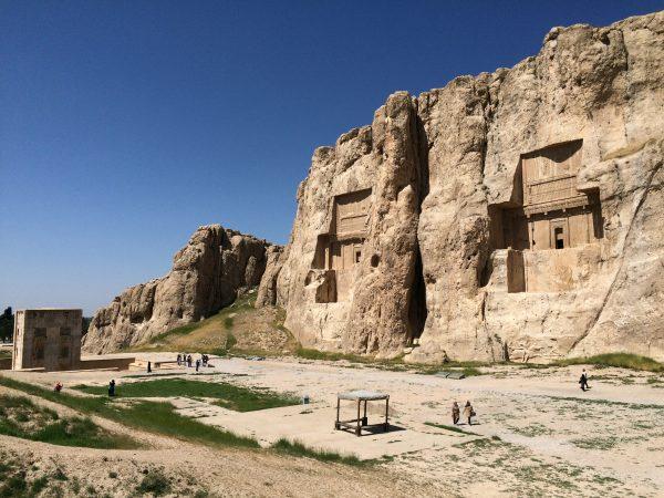 Naqsh-e Rostam: die Nekropole der Achämeniden. Foto © Welz (2016)