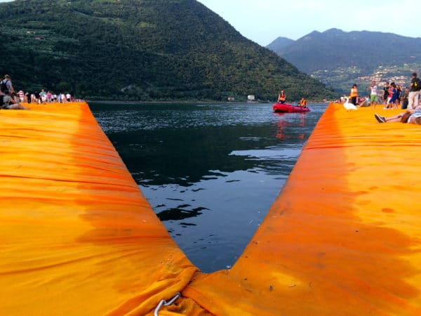 THE FLOATING PIERS dahliengelb und sexy - Foto © Welz