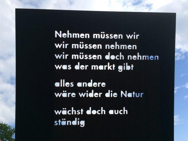 Literatur im Park: Nehmen müssen wir ... Wartberg Stuttgart. Foto © Welz